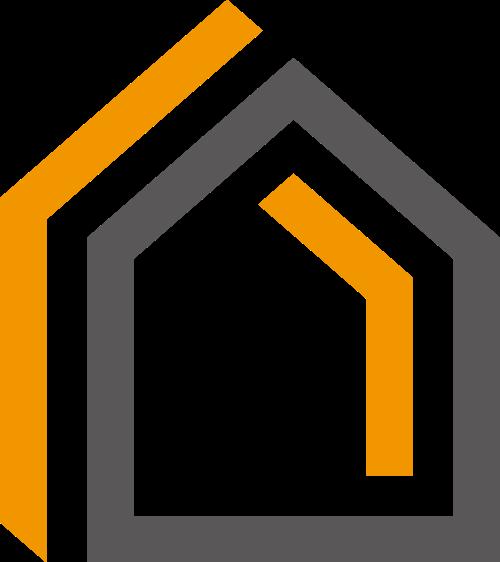 简洁房屋线条logo图标