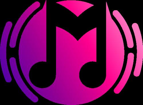 音乐符号字母Mlogo素材