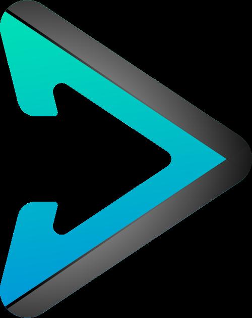 立体三角箭头视频相关logo矢量素材