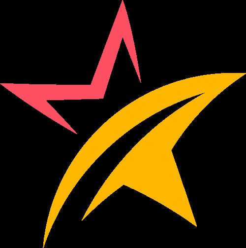 抽象五角星logo图标