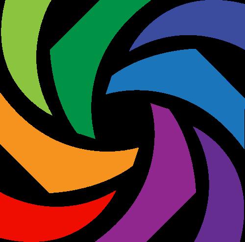 方形彩色图案图标素材