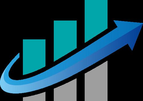 销量业绩上升箭头金融相关logo素材