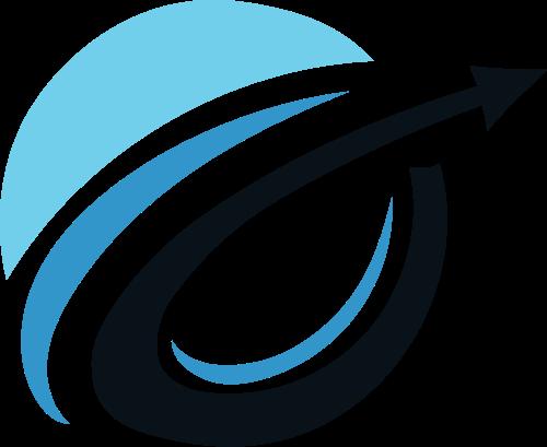 圆形抽象贸易物流logo素材
