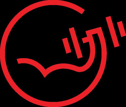 红色抽象圆形线条运动健身矢量图标素材