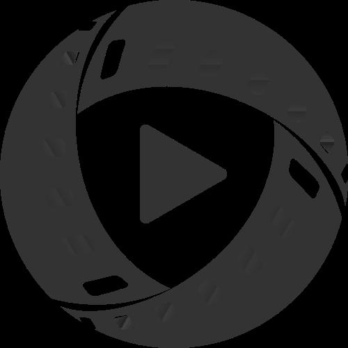 圆形视频胶片直播相关logo素材