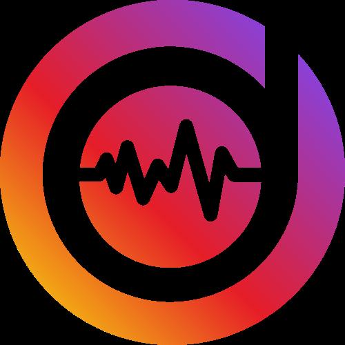 圆形DJ音乐节奏D字母logo素材