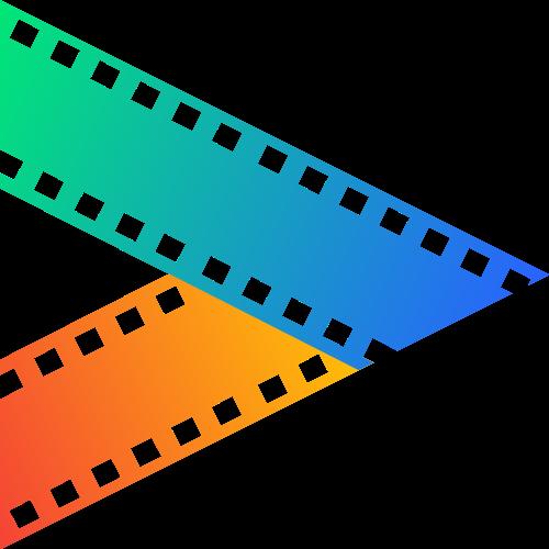 渐变三角形胶片影视相关logo