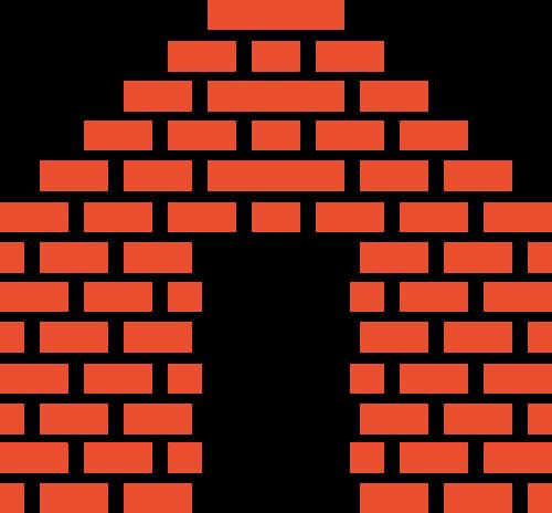 红色房子砖头logo矢量图标素材