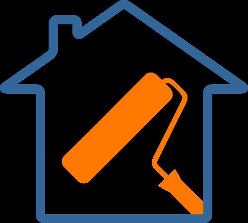 房屋装修粉刷logo图标素材