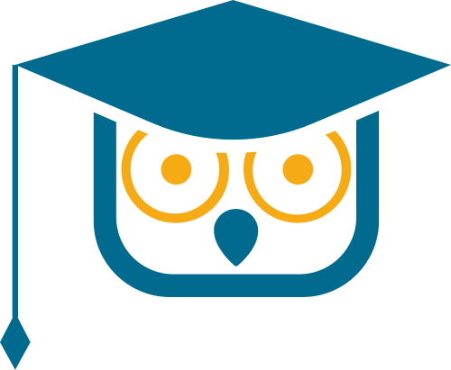猫头鹰博士帽教育培训相关图标素材