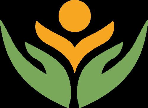 双手呵护培养教育成长logo矢量素材