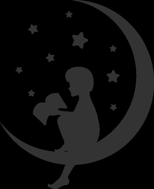 阅读学习儿童星空logo