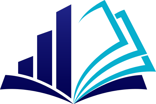 蓝色提升教育书本logo图标素材