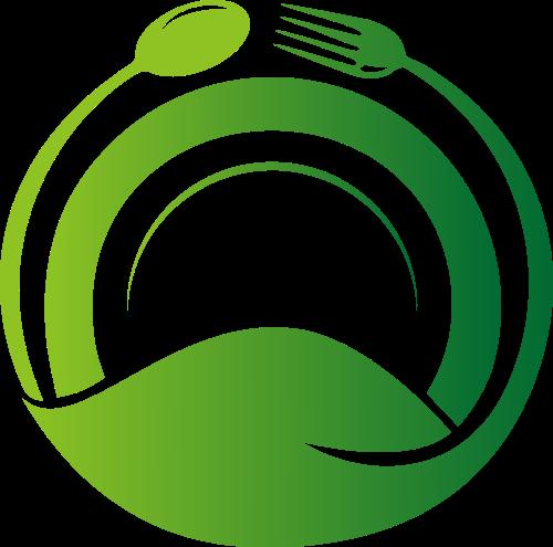 刀叉盘子健康饮食相关logo图标素材