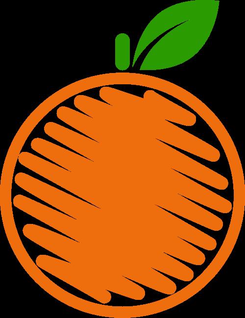 橙子橙汁水果饮品相关logo图标素材矢量logo