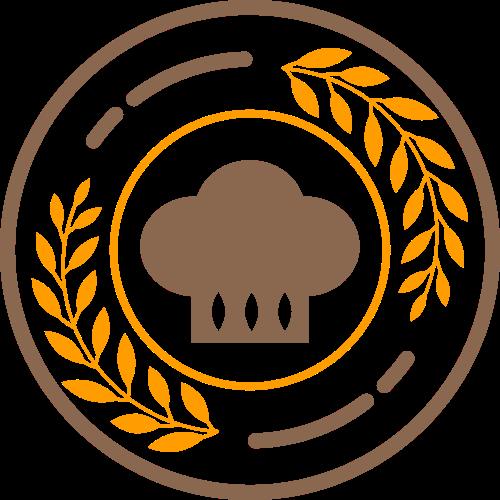 圆形麦穗烘焙食品厨师logo图标素材