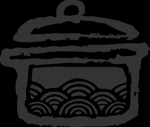 餐饮砂锅美食矢量图标素材