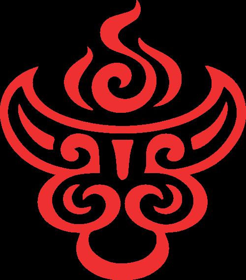中餐火锅餐厅狮子图案矢量图标素材
