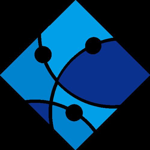 蓝色科技网络区块链矢量图标素材
