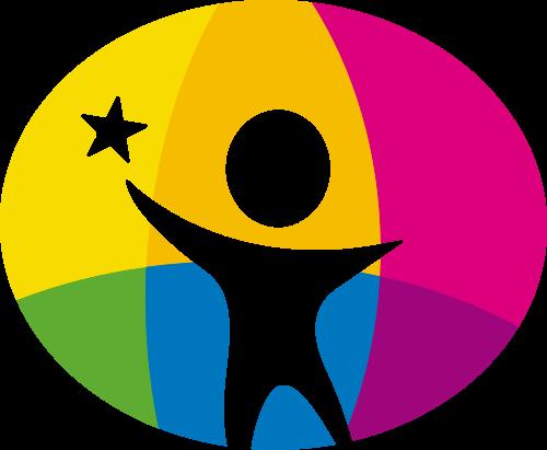 彩色儿童教育学习logo图标素材