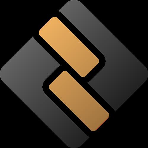 黑色金色菱形长方体金融logo图标素材