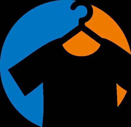 儿童服装衣架logo图标素材