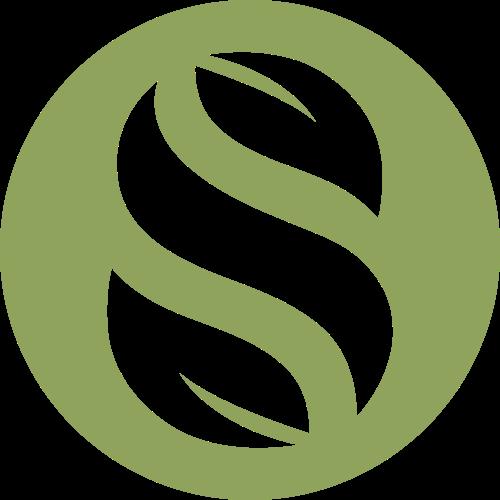 绿色圆形字母S树叶元素logo图标素材