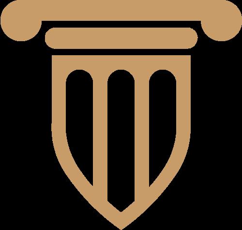 棕色盾形法律法庭律师咨询矢量图标素材