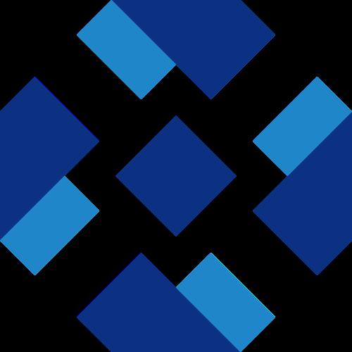 蓝色正方体长方体抽象菱形logo图标素材