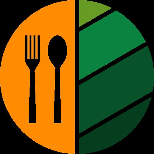 绿色养生素食叶子餐厅logo图标素材
