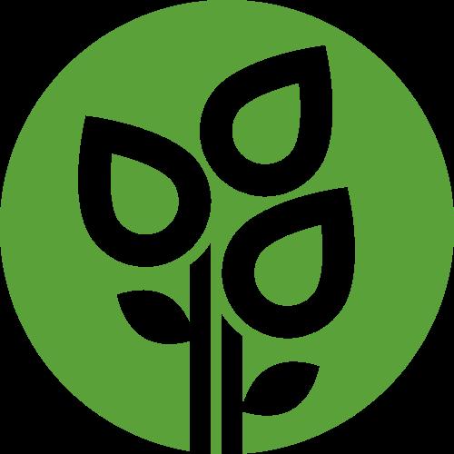 绿色健康植物花朵矢量图标素材