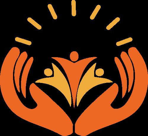 黄色儿童成长教育logo图标素材