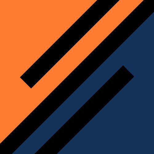 蓝色橙色正方体logo图标素材