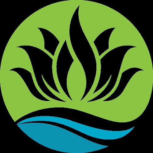绿色荷花养生瑜伽logo图标素材矢量logo