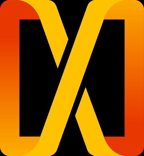 渐变正方体字母X矢量图标素材