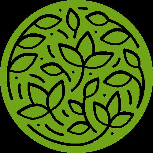 圆形镂空叶子养生美容绿色休闲量图标素材