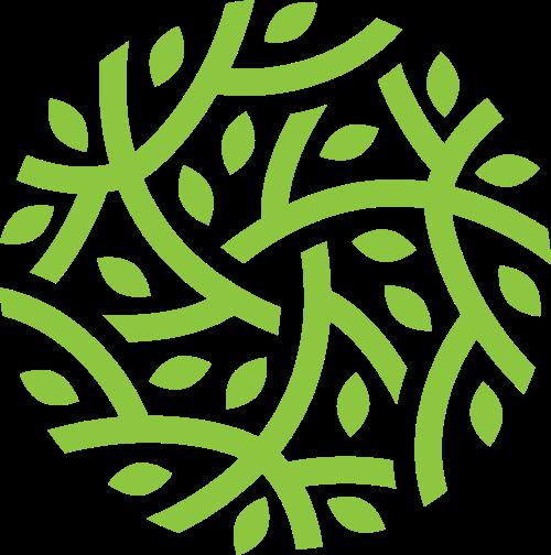 绿色环保环境树枝农场林业logo图标素材