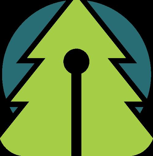 绿色家装树木环保环境logo图标素材