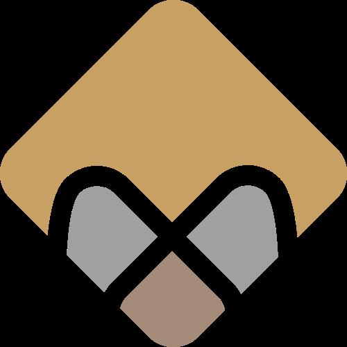 棕色菱形抽象矢量图标素材