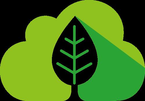 绿色云朵树叶环保环境logo图标素材