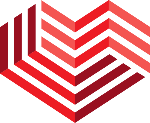红色立体线条爱心婚庆矢量图标素材