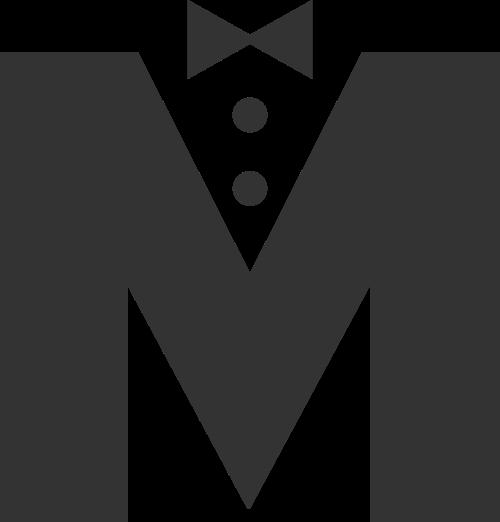 男士服装领结休闲购物logo图标素材