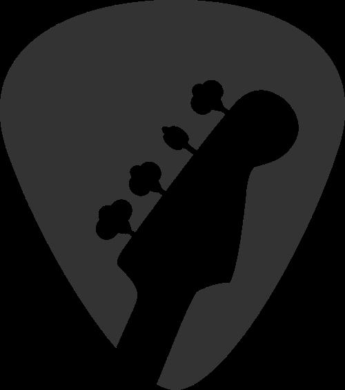 吉他音乐乐器教育培训矢量图标素材
