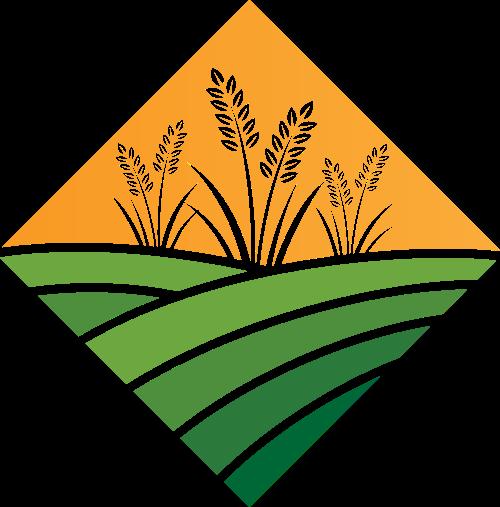 农田稻谷农场有机绿色健康食品logo图标素材