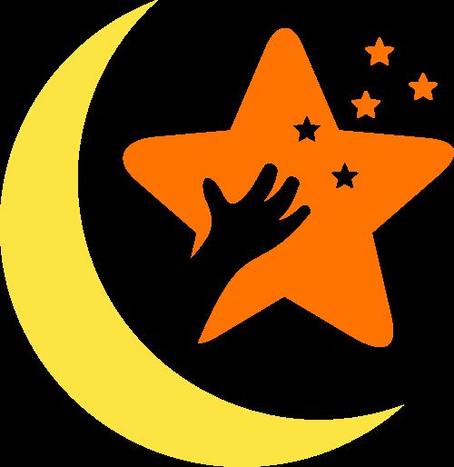 卡通星星月亮母婴儿童教育培训矢量图标素材
