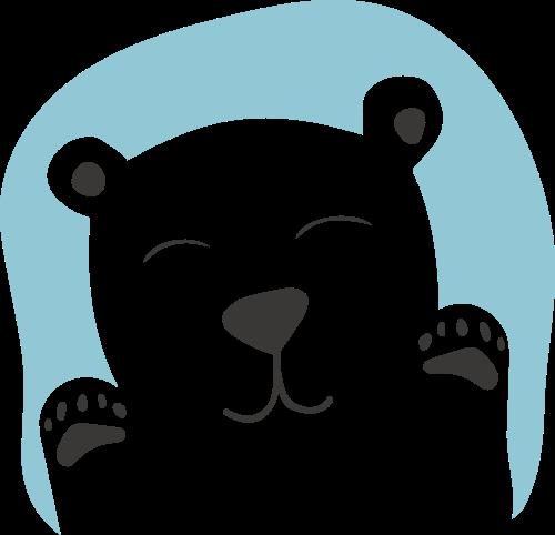 卡通熊母婴亲子儿童休闲娱乐logo图标素材