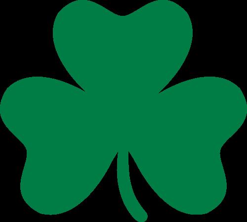 绿色幸运三叶草logo图标素材