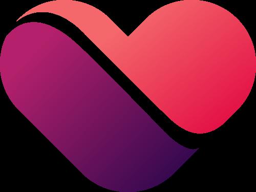 爱心公益婚恋爱情相关logo图标素材