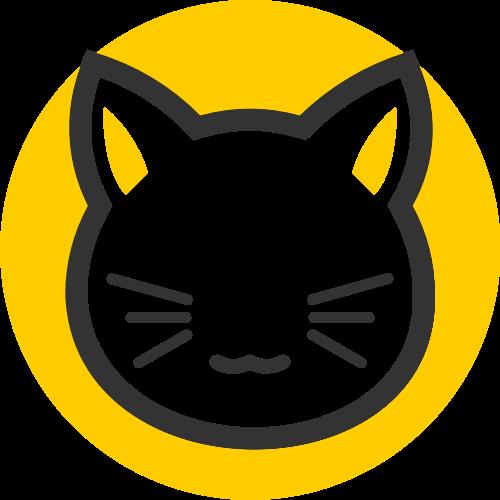 卡通宠物猫咪儿童亲子矢量图标素材