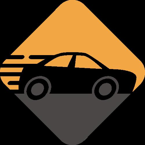 汽车维修轿车运输矢量图标素材
